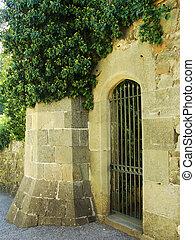 Decorative door, Vorontsov palace walls, Alupka, Crimea,...