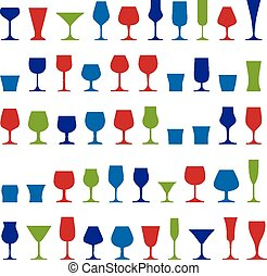 Decorative drinking glasses collect
