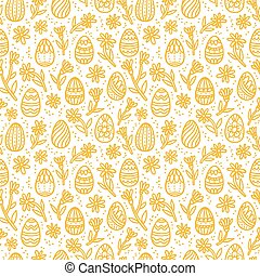 Decorative Easter gold eggs seamless pattern