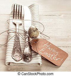 Decorative Easter place setting