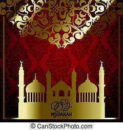 decorative eid mubarak background 2205 - Decorative Eid...