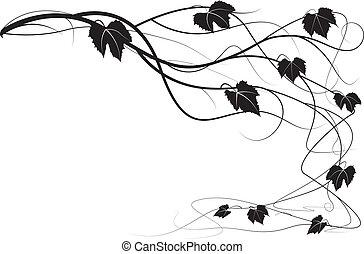 Decorative element creeper vine branches