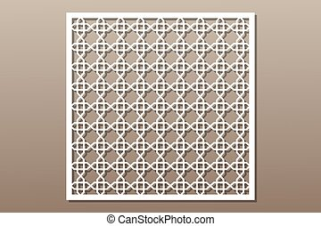 Decorative element for laser cutting. Geometric ornament...
