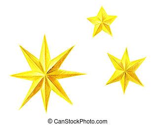 Christmas golden stars