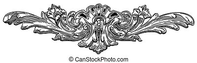 Decorative element of the facade of a historic building in...