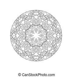 decorative elements, abstract, mandala., ethnische , floral