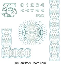 Decorative elements and numbers