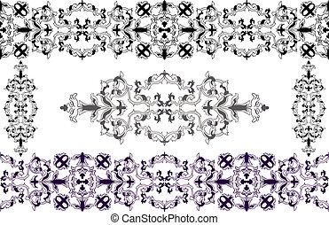Decorative elements Baroque style - Decorative elements in...