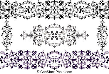 Decorative elements Baroque style - Decorative elements in...