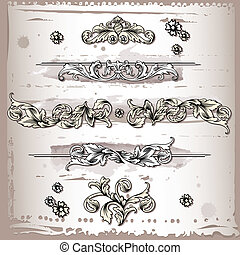Decorative Elements, editable vector illustration