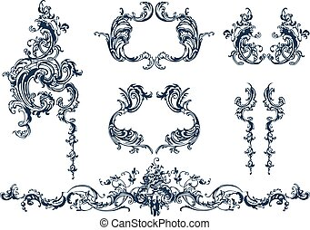 Decorative elements - Decorative vector elements, rococo...