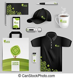 Decorative Elements Of Eco Corporate Identity - Decorative...