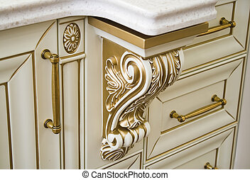 decorative elements of furniture and interior