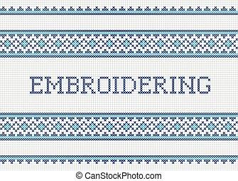 Decorative embroidering design
