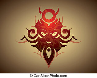 Decorative evil mask