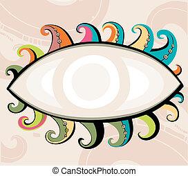 Decorative eye.