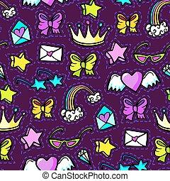 Decorative fashion patch badges