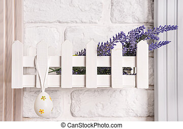 Decorative fence on the wall
