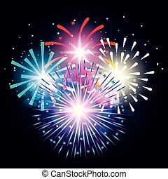 decorative fireworks explosions poster