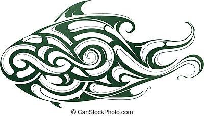 Decorative fish tattoo