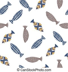 Decorative fishes pattern