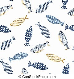 Decorative fishes pattern.