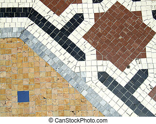 Decorative floor mosaic