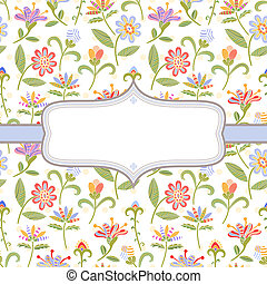 Decorative floral background - Decorative background with...