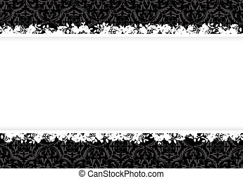 Decorative floral background vector design all parts are editable