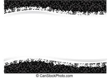 Decorative floral background vector design