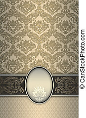 Decorative floral background with frame.
