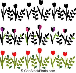 Decorative floral border