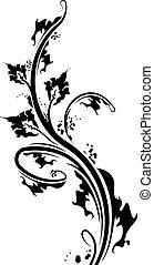Decorative floral branch