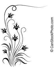 Decorative floral corner ornament - Decorative floral...