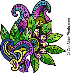 decorative floral element Doodle