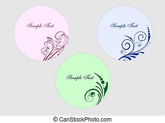 decorative floral frame for design