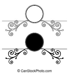 Decorative Floral frames. Vector illustration
