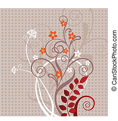 Decorative floral greeting card