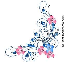 Decorative floral ornament - Decorative corner ornament