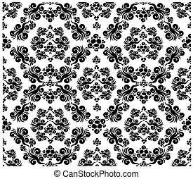 Decorative floral ornament - Vector art background with...