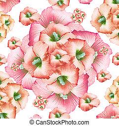 Decorative Floral Pattern - Digital art technique feminine...