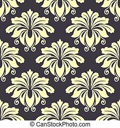 Decorative floral seamless pattern