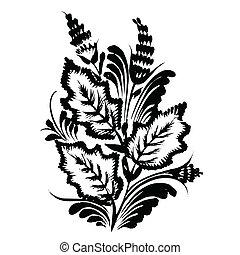 decorative floral silhouette