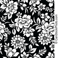 Decorative floral wallpaper - Decorative seamless floral...