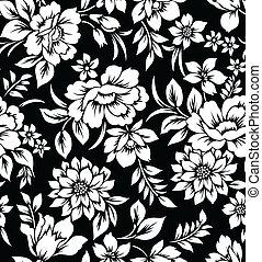 Decorative floral wallpaper