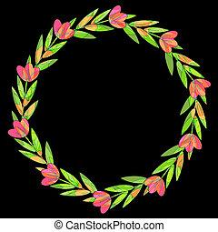 Decorative floral wreath