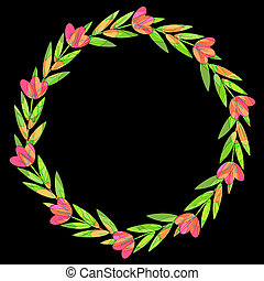 Decorative floral wreath