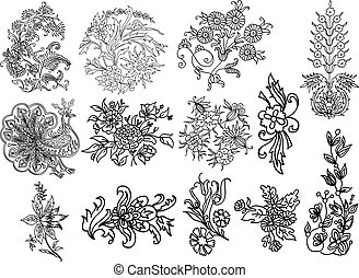 Decorative flourish motifs
