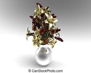 Decorative flower arrangement