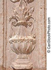Decorative flower carved